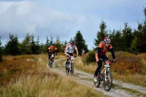 rowerzyści na zawodach